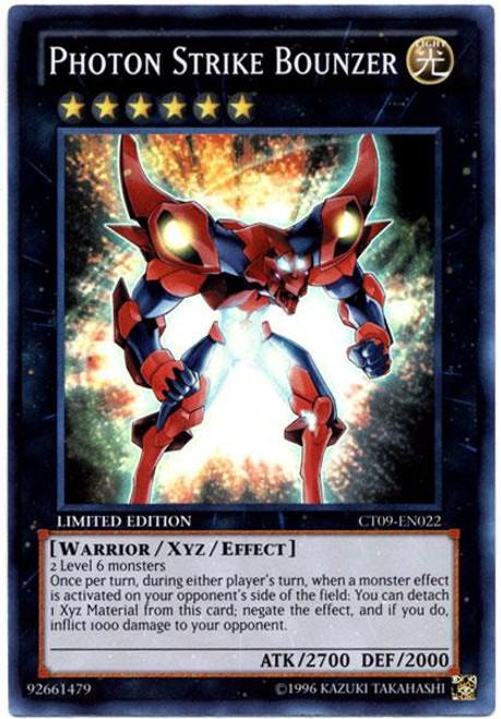 YuGiOh Holiday Tin Promo Super Rare Photon Strike Bounzer CT09-EN022