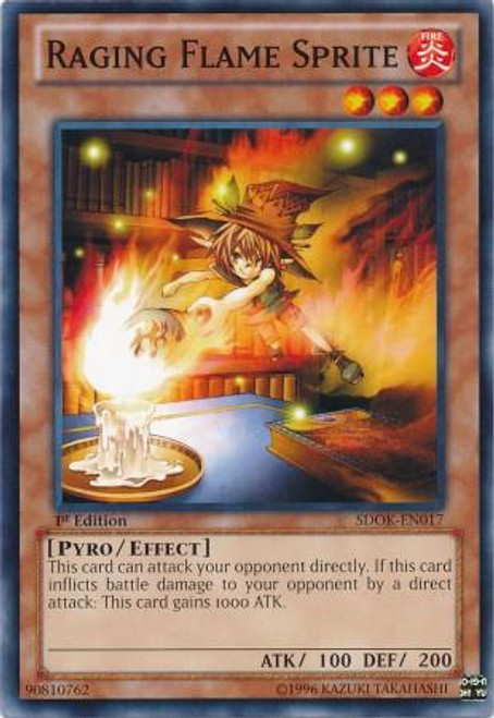 YuGiOh Structure Deck: Onslaught of the Fire Kings Common Raging Flame Sprite SDOK-EN017