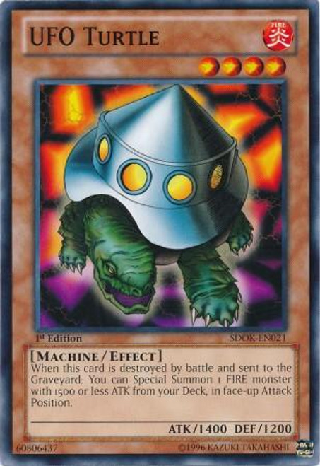 YuGiOh Structure Deck: Onslaught of the Fire Kings Common UFO Turtle SDOK-EN021