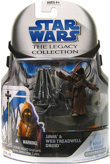 Star Wars A New Hope Legacy Collection 2008 Droid Factory Jawa & WED Treadwell Droid Action Figure 2-Pack BD33