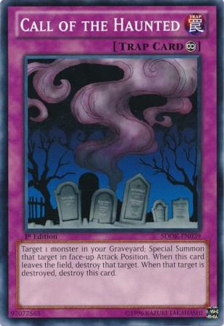 YuGiOh Structure Deck: Onslaught of the Fire Kings Common Call of the Haunted SDOK-EN039