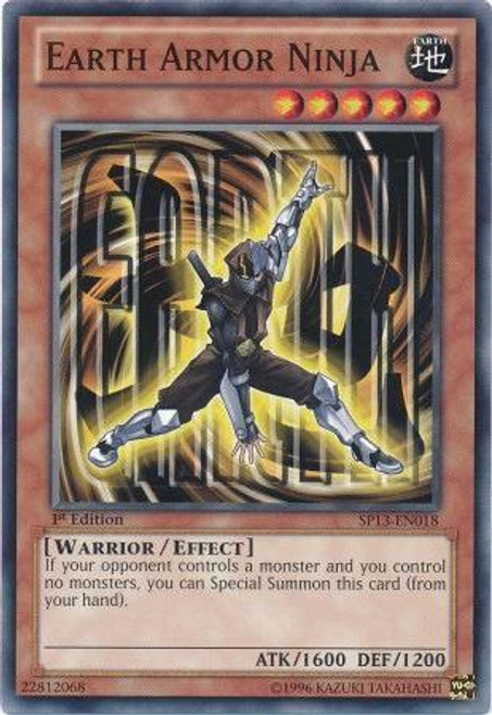 YuGiOh Star Pack 2013 Common Earth Armor Ninja SP13-EN018