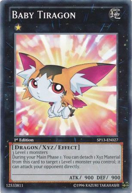 YuGiOh Star Pack 2013 Common Baby Tiragon SP13-EN027