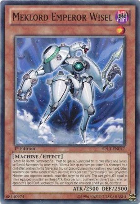 YuGiOh Star Pack 2013 Common Meklord Emperor Wisel SP13-EN047