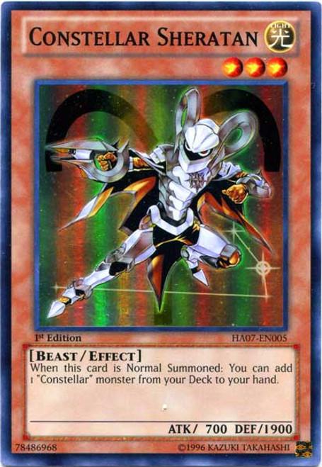 YuGiOh Zexal Hidden Arsenal 7: Knight of Stars Super Rare Constellar Sheratan HA07-EN005