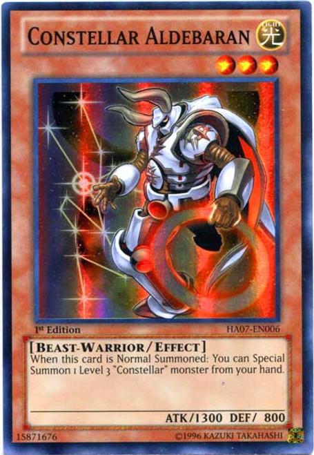 YuGiOh Zexal Hidden Arsenal 7: Knight of Stars Super Rare Constellar Aldebaran HA07-EN006