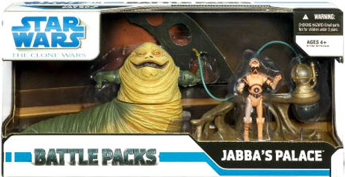 Star Wars The Clone Wars Battle Packs 2009 Jabba's Palace Action Figure Set
