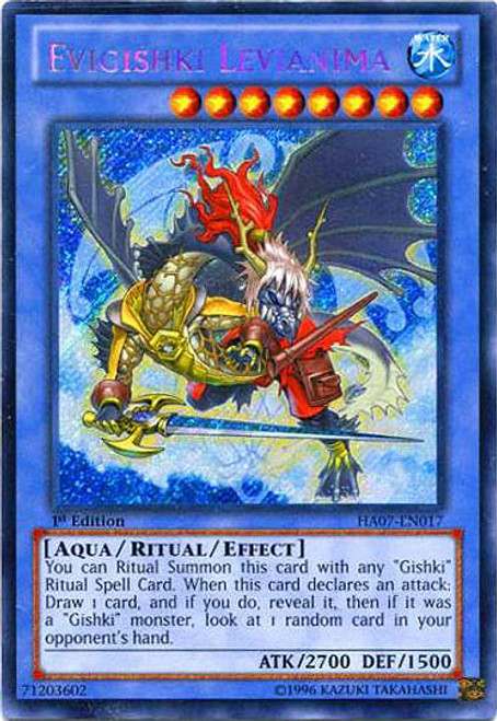 YuGiOh Zexal Hidden Arsenal 7: Knight of Stars Secret Rare Evigishki Levianima HA07-EN017