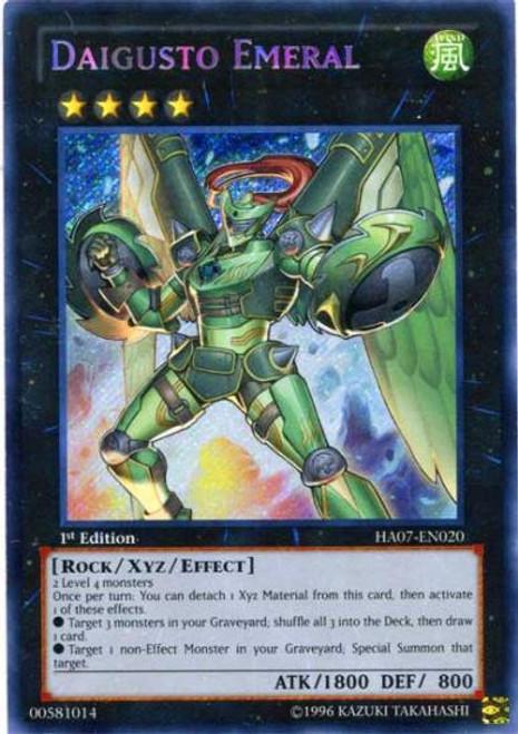 YuGiOh Zexal Hidden Arsenal 7: Knight of Stars Secret Rare Daigusto Emeral HA07-EN020