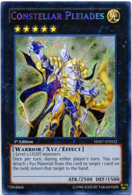 YuGiOh Zexal Hidden Arsenal 7: Knight of Stars Secret Rare Constellar Pleiades HA07-EN022