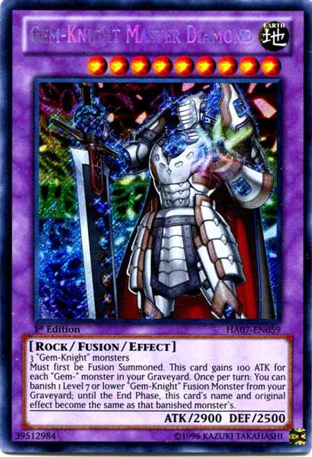 YuGiOh Zexal Hidden Arsenal 7: Knight of Stars Secret Rare Gem-Knight Master Diamond HA07-EN059