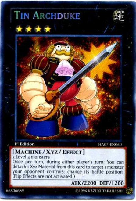 YuGiOh Zexal Hidden Arsenal 7: Knight of Stars Secret Rare Tin Archduke HA07-EN060