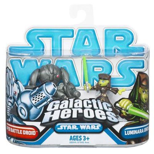 Star Wars The Clone Wars Galactic Heroes 2009 Luminara & Super Battle Droid Mini Figure 2-Pack