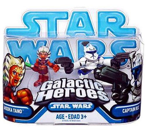 Star Wars The Clone Wars Galactic Heroes 2009 Ahsoka Tano & Captain Rex Mini Figure 2-Pack