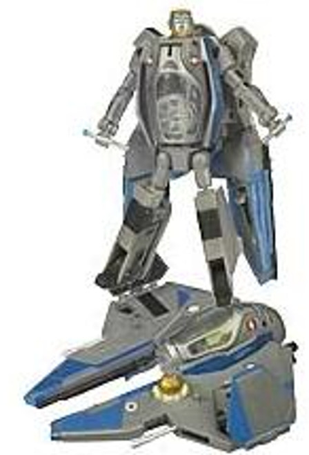Star Wars Revenge of the Sith Transformers Crossovers 2009 Obi-Wan Kenobi to Jedi Interceptor Starfighter Action Figure