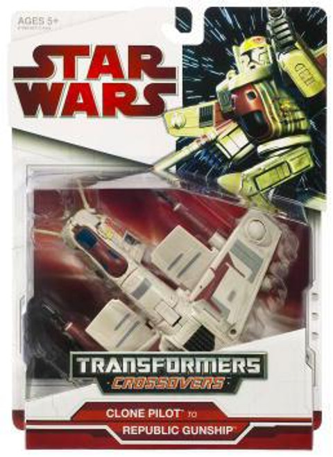Star Wars The Clone Wars Transformers Crossovers 2009 Clone Trooper to Republic Gunship Action Figure