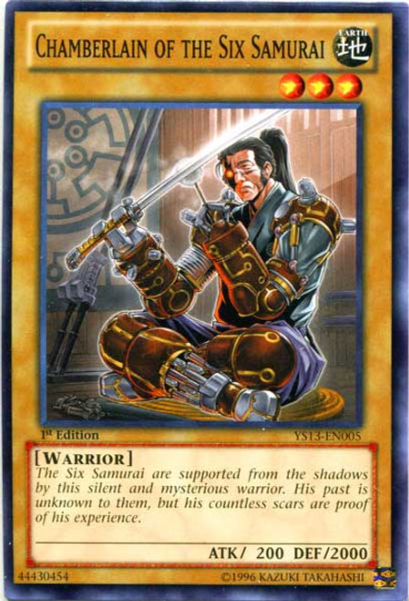 YuGiOh 2013 Super Starter: V for Victory Common Chamberlain of the Six Samurai YS13-EN005