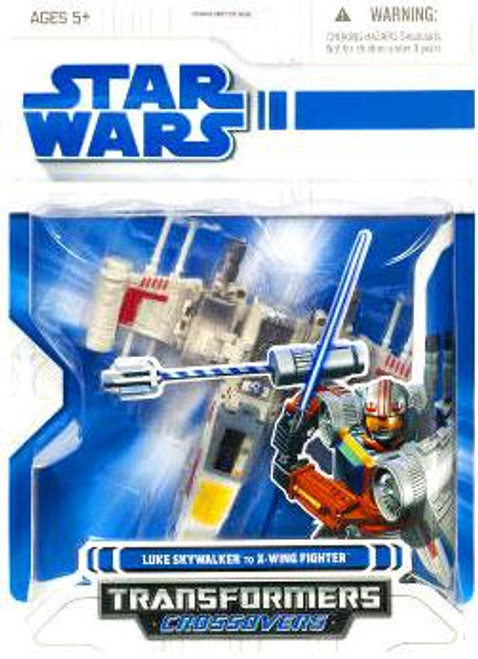 Star Wars A New Hope Transformers Crossovers 2009 Luke Skywalker to X-Wing Starfighter Action Figure
