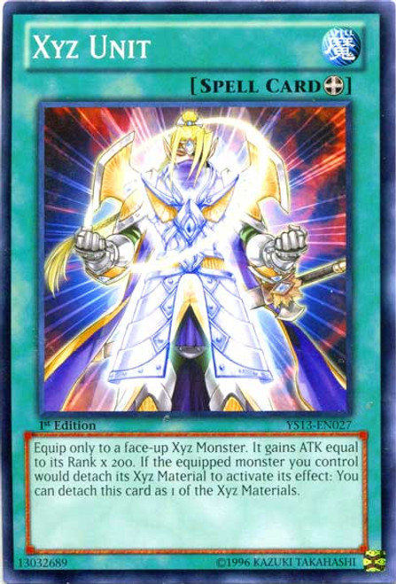 YuGiOh 2013 Super Starter: V for Victory Common Xyz Unit YS13-EN027