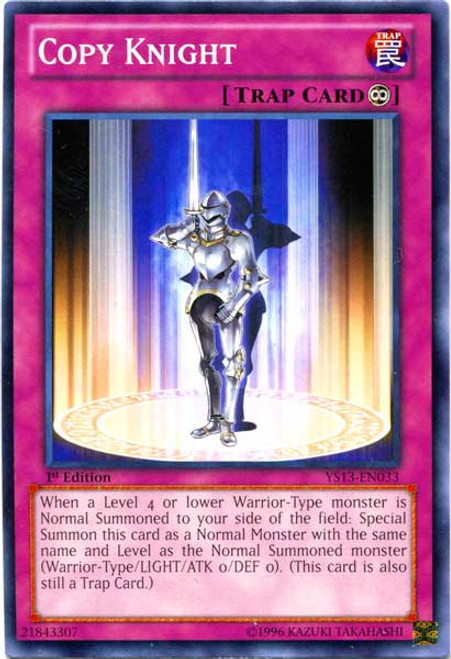 YuGiOh 2013 Super Starter: V for Victory Common Copy Knight YS13-EN033