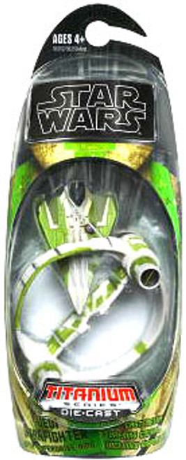 Star Wars Expanded Universe Titanium Series 2009 Jedi Delta-7 Starfighter Diecast Vehicle [With Hyperspace Ring]