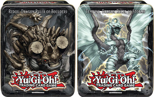 YuGiOh 2013 Collector Tins Series 2 Redox Dragon Ruler of Boulders & Tempest Dragon Ruler of Storms Collector Tins [Sealed]