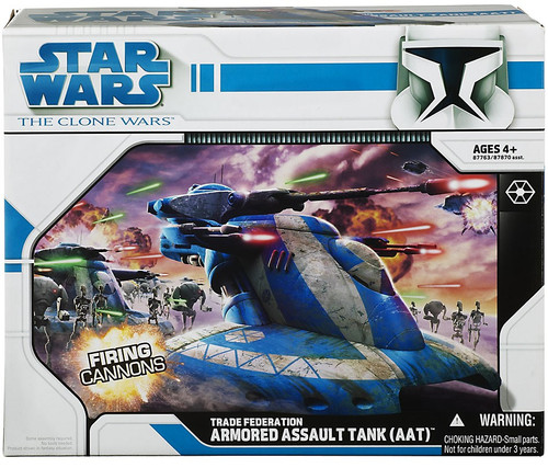 Star Wars The Clone Wars Vehicles 2008 Trade Federation Armored Assault Tank (ATT) Action Figure Vehicle