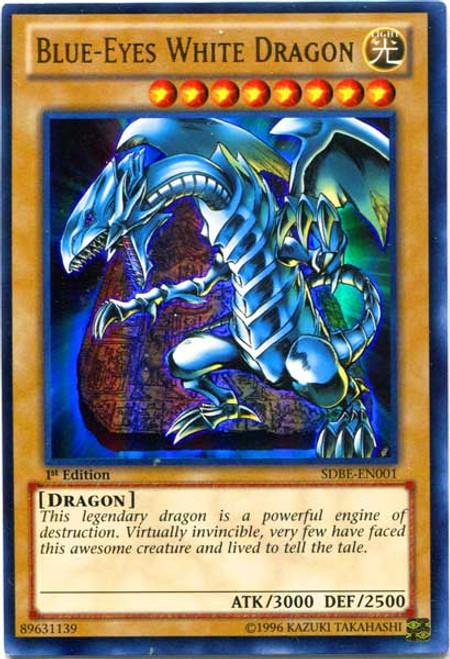 YuGiOh Saga of Blue-Eyes White Dragon Structure Deck Ultra Rare Blue-Eyes White Dragon SDBE-EN001