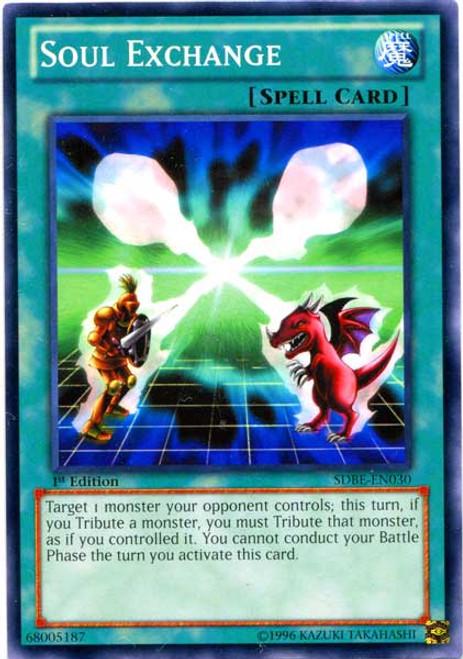 YuGiOh Saga of Blue-Eyes White Dragon Structure Deck Common Soul Exchange SDBE-EN030