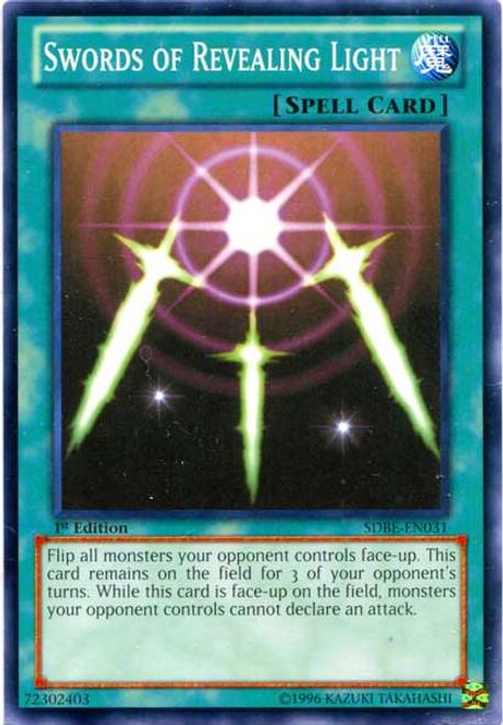 YuGiOh Saga of Blue-Eyes White Dragon Structure Deck Common Swords of Revealing Light SDBE-EN031