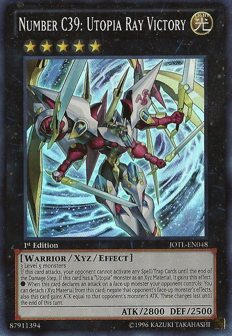 YuGiOh Zexal Judgment of the Light Super Rare Number C39: Utopia Ray Victory JOTL-EN048