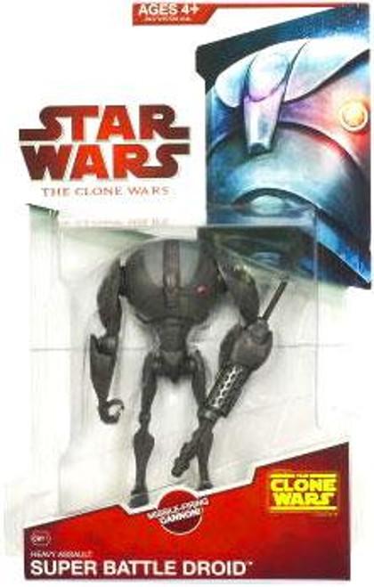 Star Wars The Clone Wars Clone Wars 2009 Super Battle Droid Sergeant Action Figure CW11