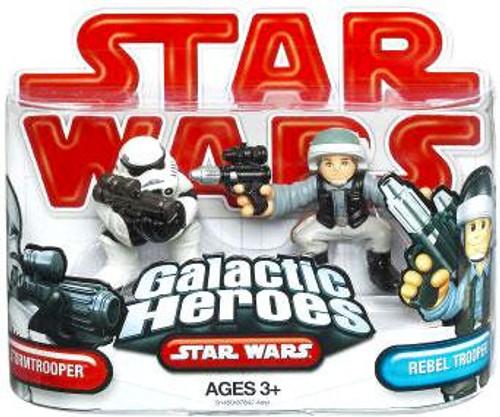 Star Wars A New Hope Galactic Heroes 2009 Stormtrooper & Blockade Rebel Trooper Mini Figure 2-Pack
