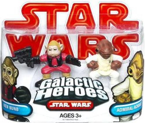 Star Wars Return of the Jedi Galactic Heroes 2009 Admiral Ackbar & Nein Numb Mini Figure 2-Pack
