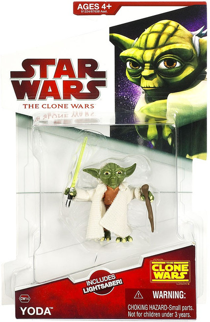 Star Wars The Clone Wars Clone Wars 2009 Yoda Action Figure CW14