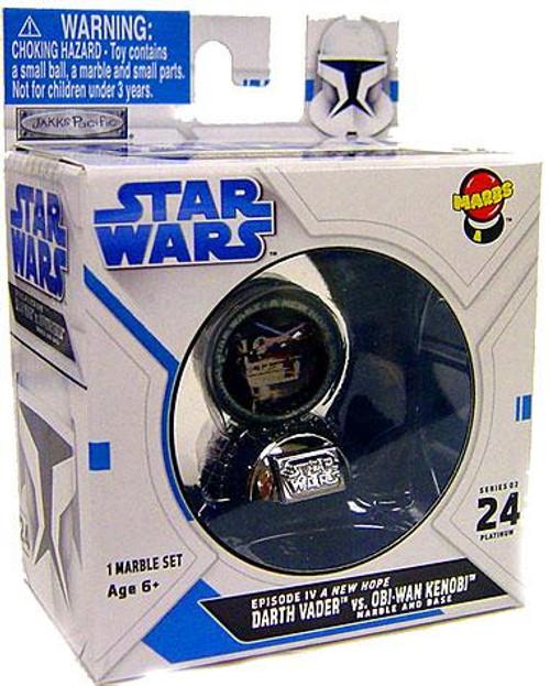 Star Wars A New Hope Marbs Series 2 Darth Vader vs. Obi-Wan Kenobi Chase Piece Marble #24 [Platinum]