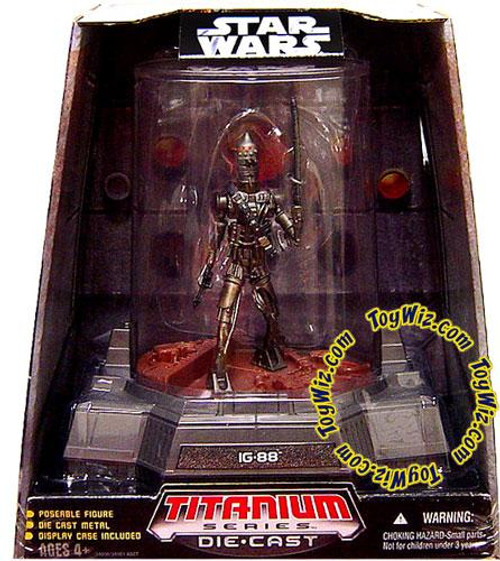 Star Wars The Clone Wars Titanium Series 2007 IG-88 Diecast Figure