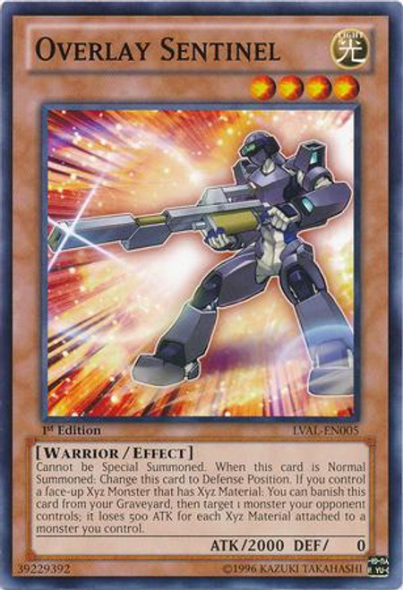 YuGiOh Zexal Legacy of the Valiant Common Overlay Sentinel LVAL-EN005