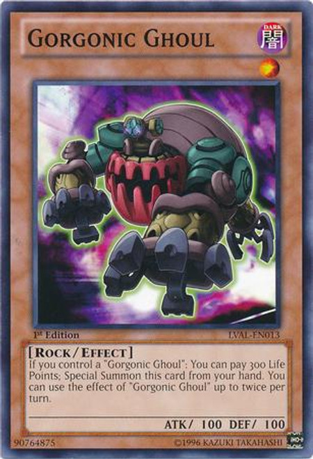 YuGiOh Zexal Legacy of the Valiant Common Gorgonic Ghoul LVAL-EN013