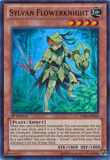 YuGiOh Zexal Legacy of the Valiant Super Rare Sylvan Flowerknight LVAL-EN018