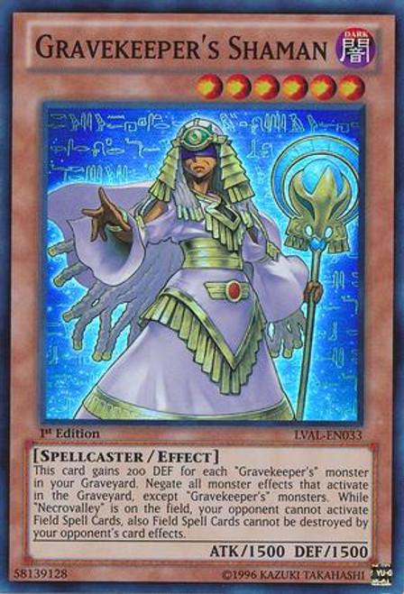 YuGiOh Zexal Legacy of the Valiant Super Rare Gravekeeper's Shaman LVAL-EN033