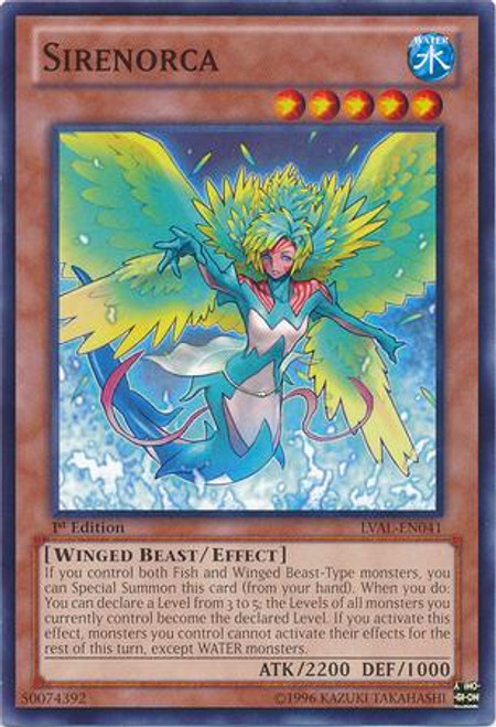 YuGiOh Zexal Legacy of the Valiant Common Sirenorca LVAL-EN041