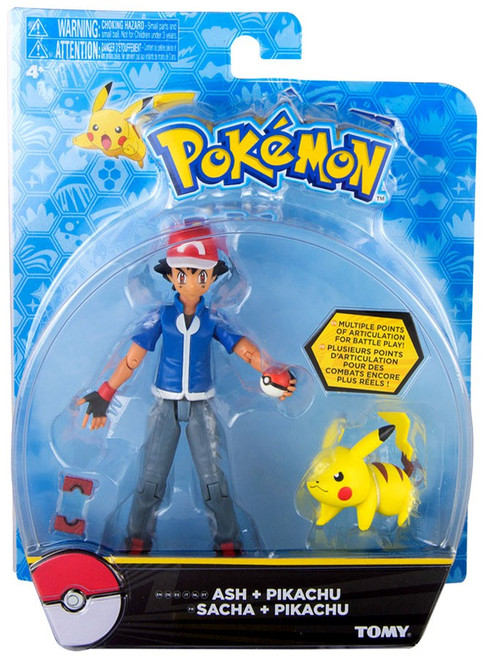 Pokedex Toys R Us : Pokemon ash pikachu action figure battle pose tomy
