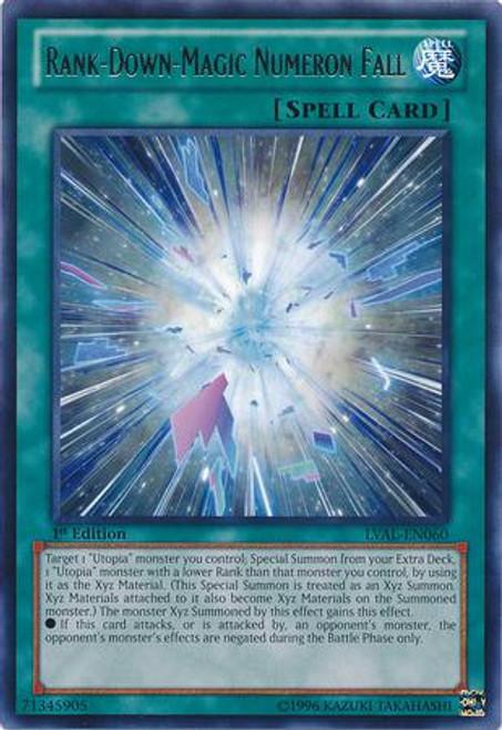 YuGiOh Zexal Legacy of the Valiant Rare Rank-Down-Magic Numeron Fall LVAL-EN060