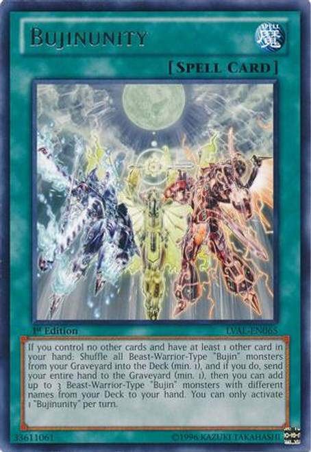 YuGiOh Zexal Legacy of the Valiant Rare Bujinunity LVAL-EN065