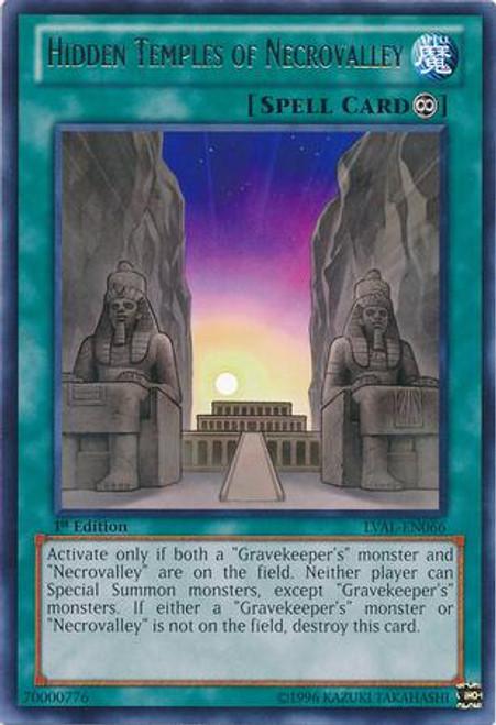 YuGiOh Zexal Legacy of the Valiant Rare Hidden Temples of Necrovalley LVAL-EN066