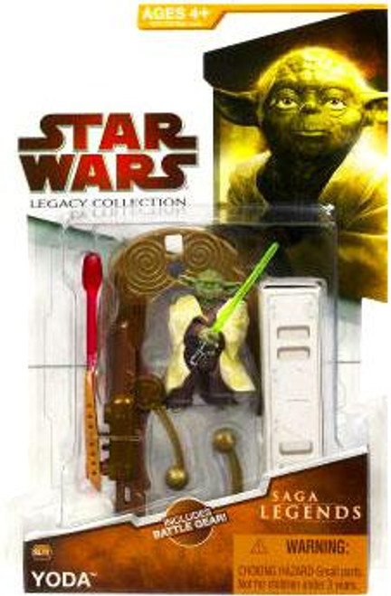Star Wars Revenge of the Sith Legacy Collection 2009 Saga Legends Yoda Action Figure SL09