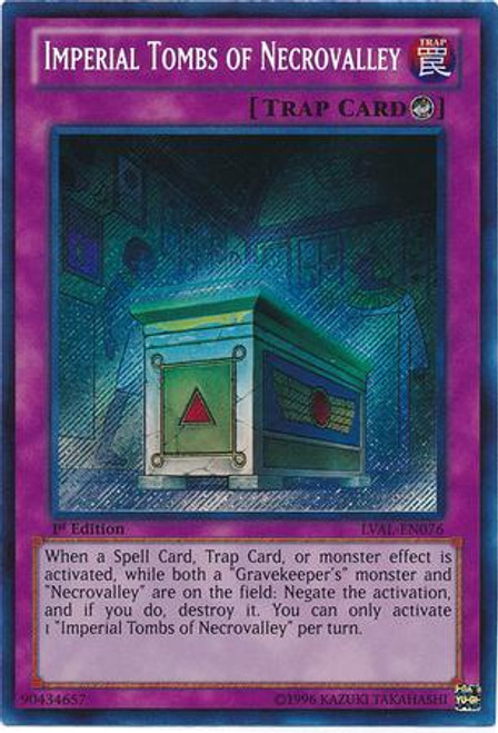 YuGiOh Zexal Legacy of the Valiant Secret Rare Imperial Tombs of Necrovalley LVAL-EN076