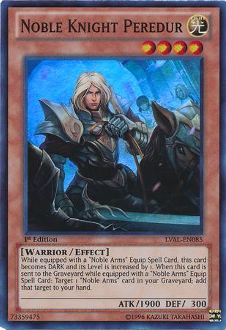 YuGiOh Zexal Legacy of the Valiant Super Rare Noble Knight Peredur LVAL-EN085
