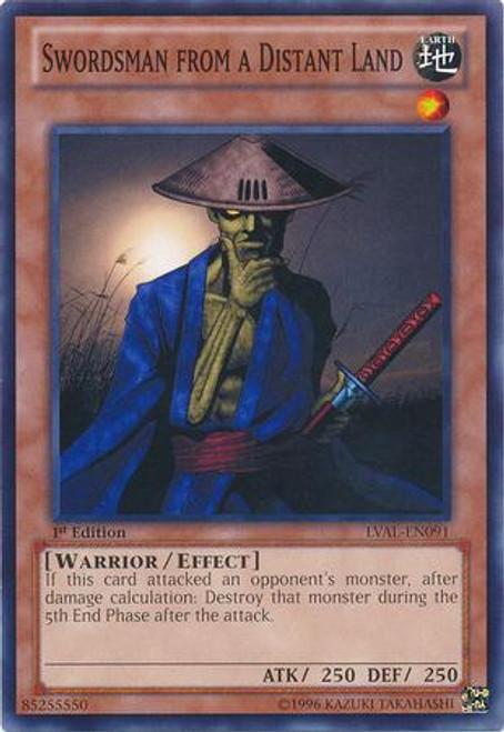 YuGiOh Zexal Legacy of the Valiant Common Swordsman from a Distant Land LVAL-EN091